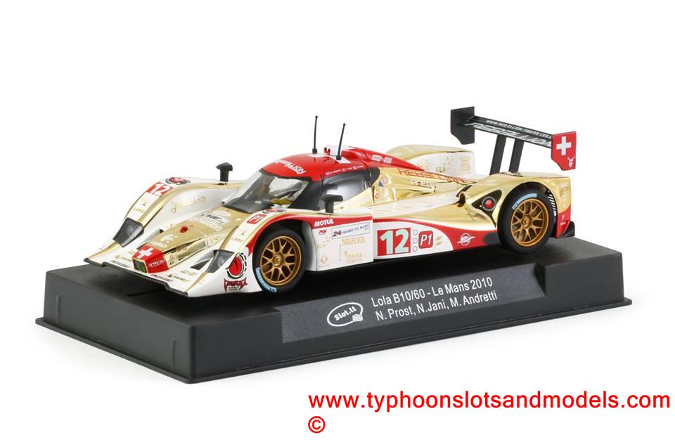 SICA22D Slot it Lola B10/60 - Le Mans 2010 - N  Prost, N  Jani, M  Andretti  - New & Boxed - CA22d